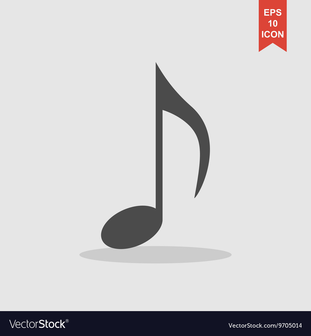 Music note icon - vector image