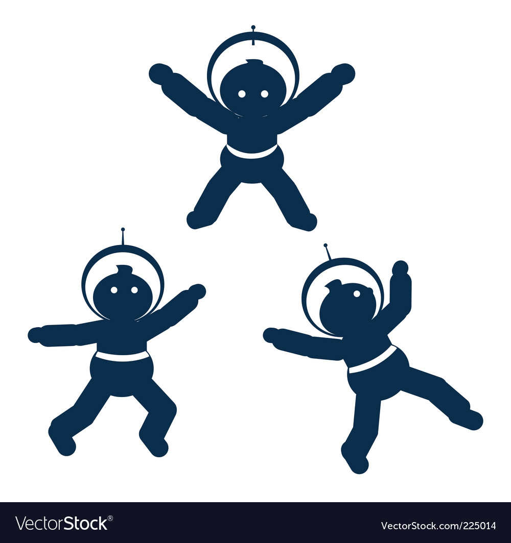 Space babies vector image