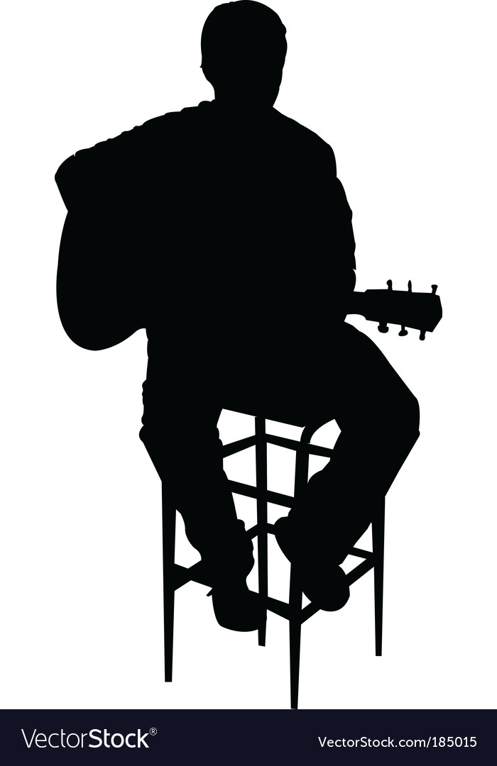 Acoustic guy vector image