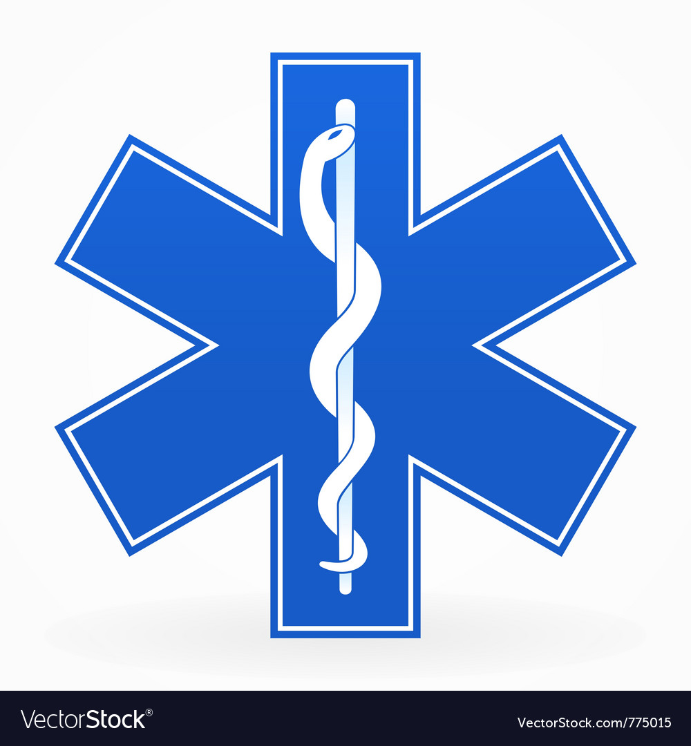 Blue medical sign vector image
