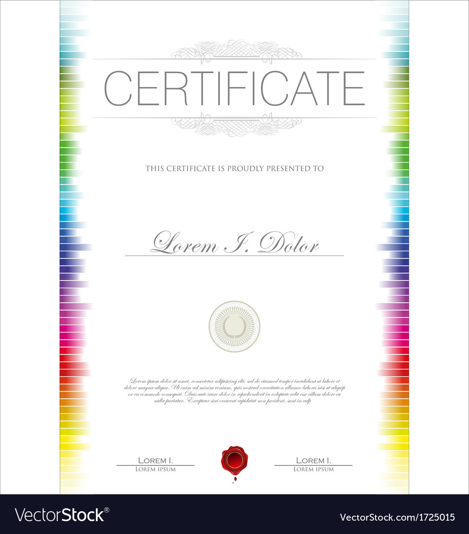 Colorful certificate template royalty free vector image colorful certificate template vector image xflitez Gallery