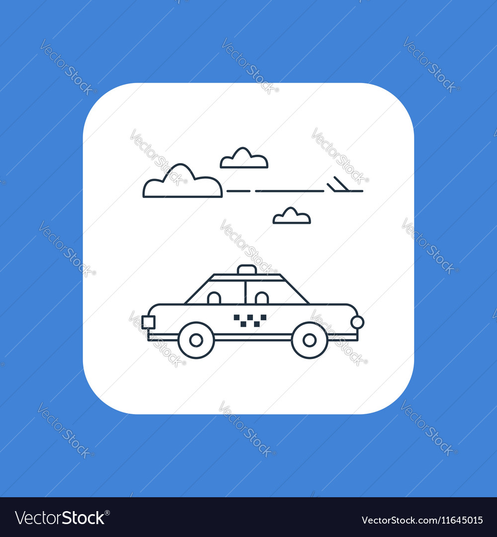 Delivery to the airport arrival meeting taxi cab vector image
