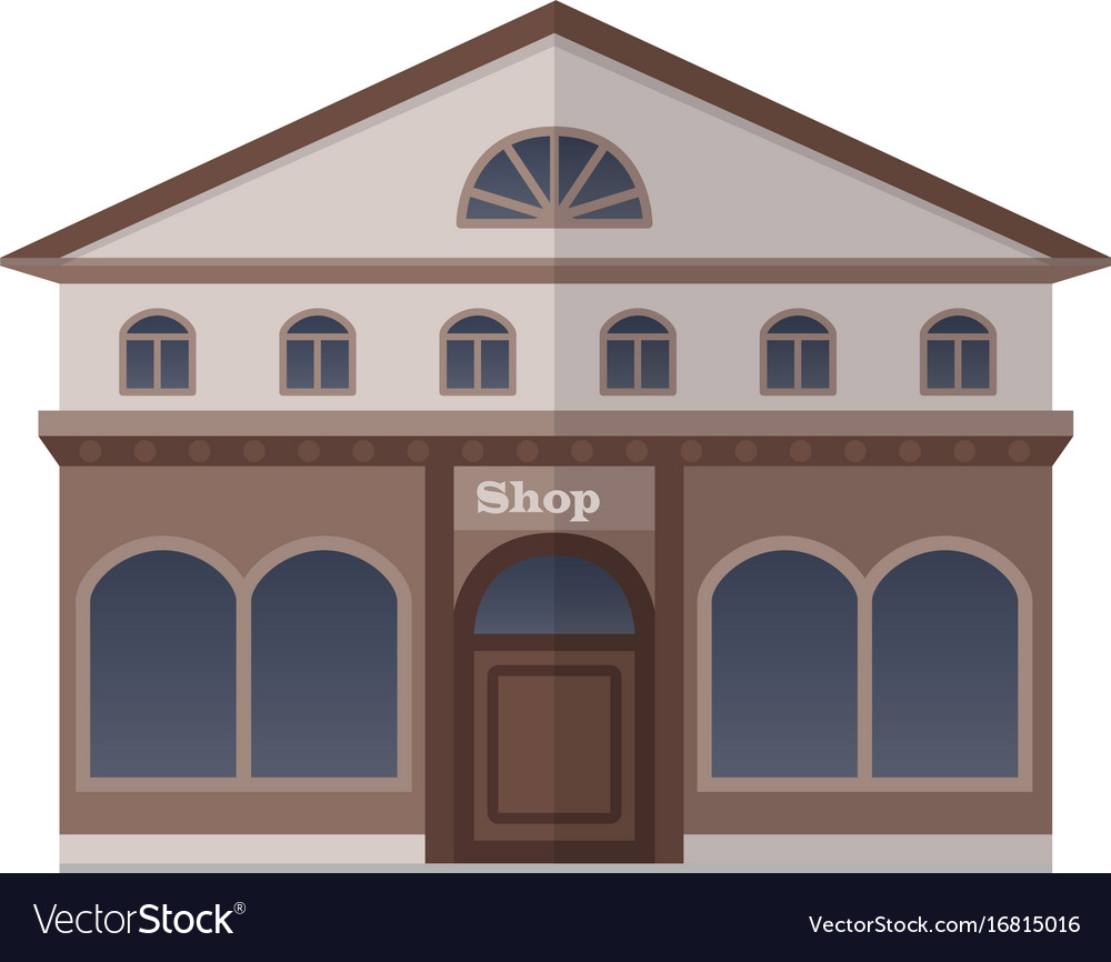 Flat design shop vector image