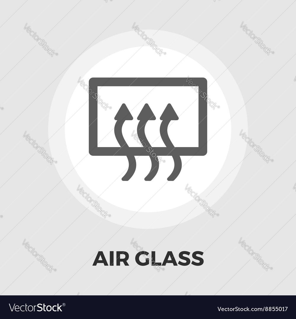 Rear window defrost flat icon vector image