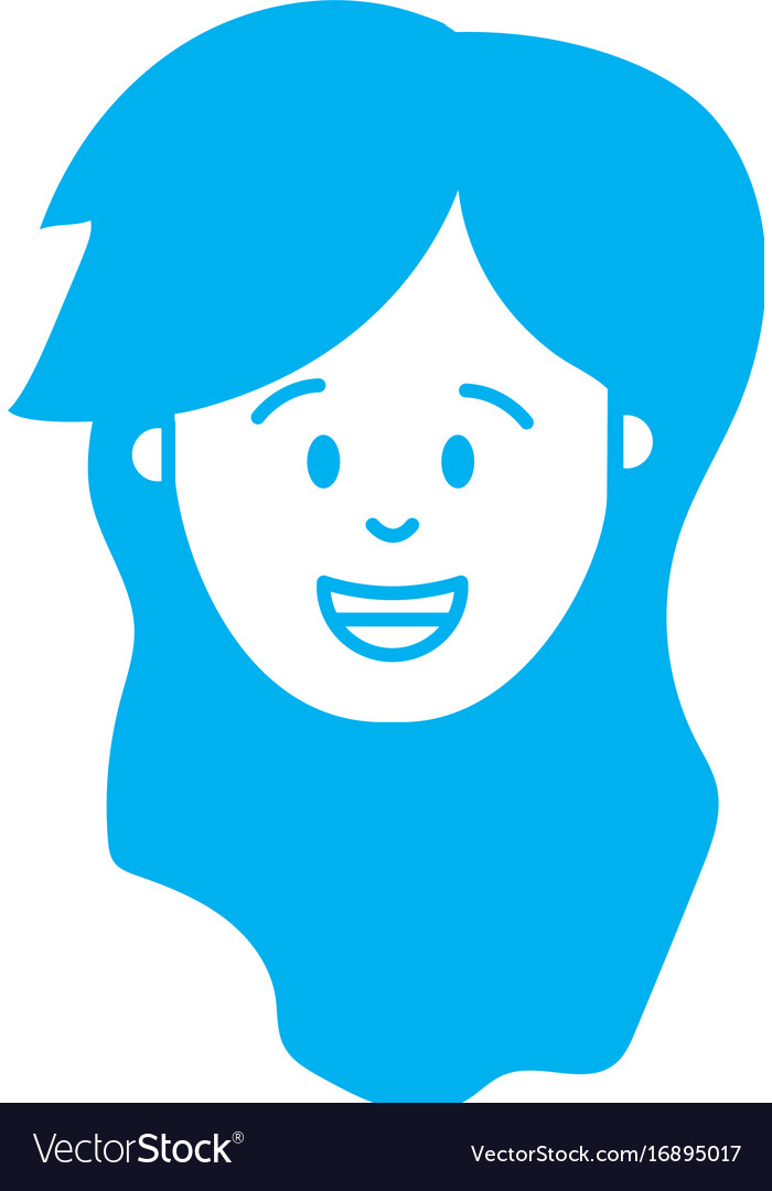 Silhouette woman head with hairstyle design vector image