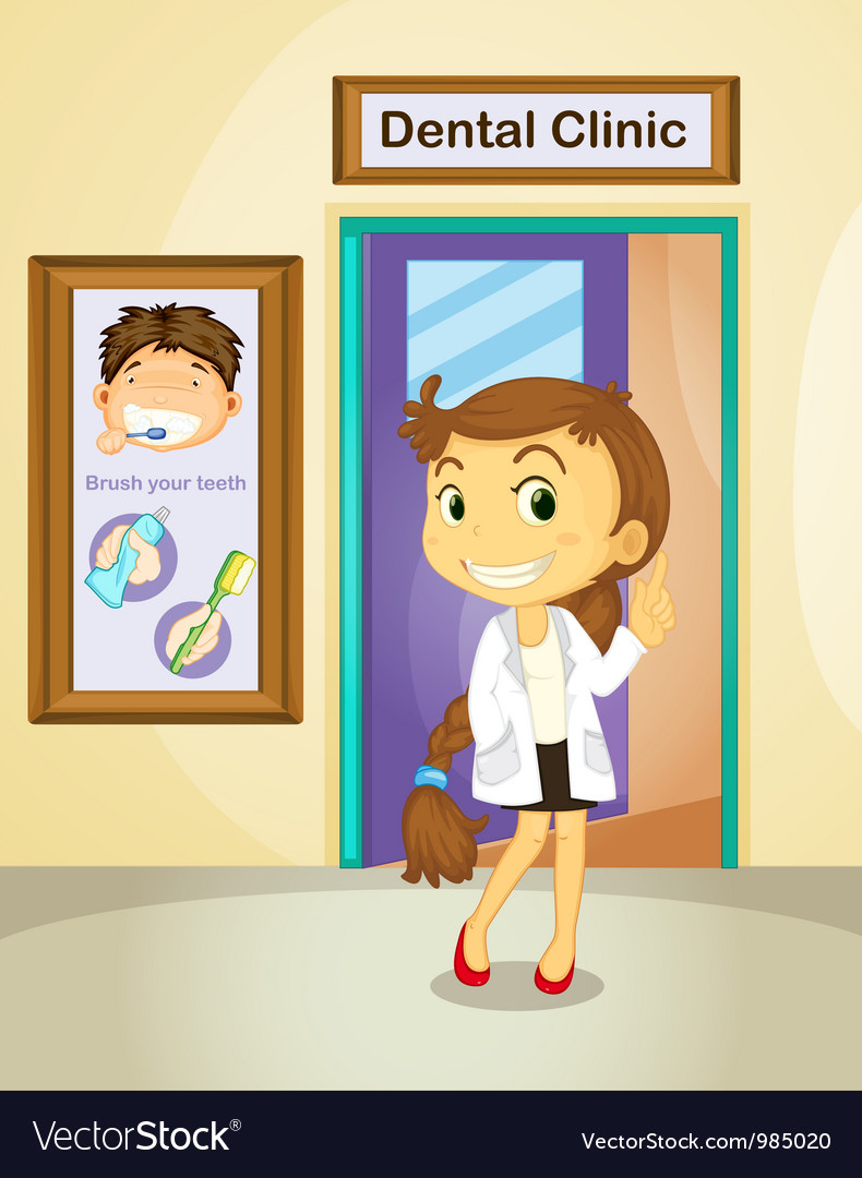 Dentist Poster vector image