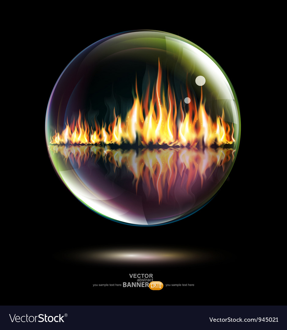 Bubbled Flames vector image