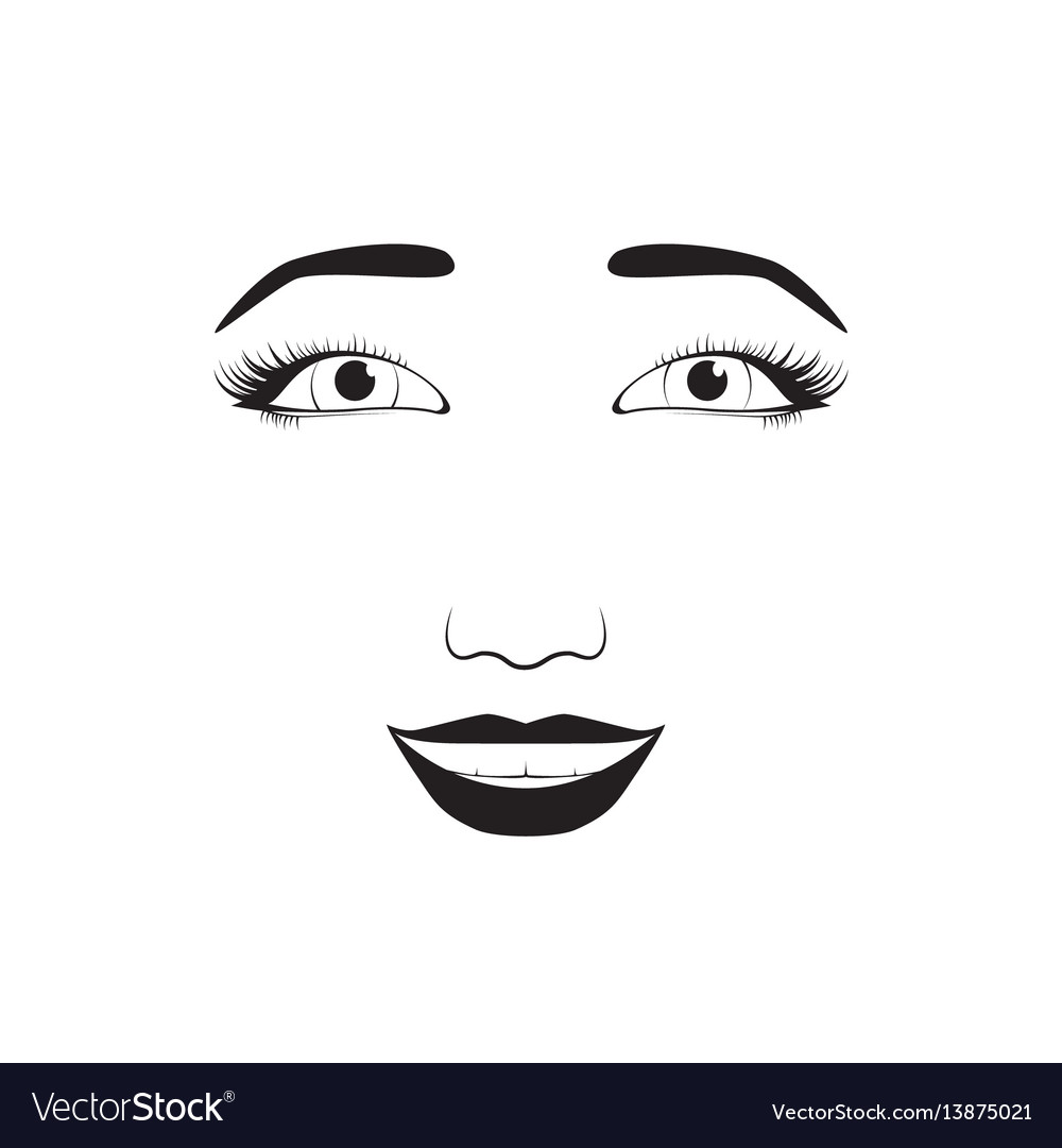 Girl emotion face laugh cartoon vector image