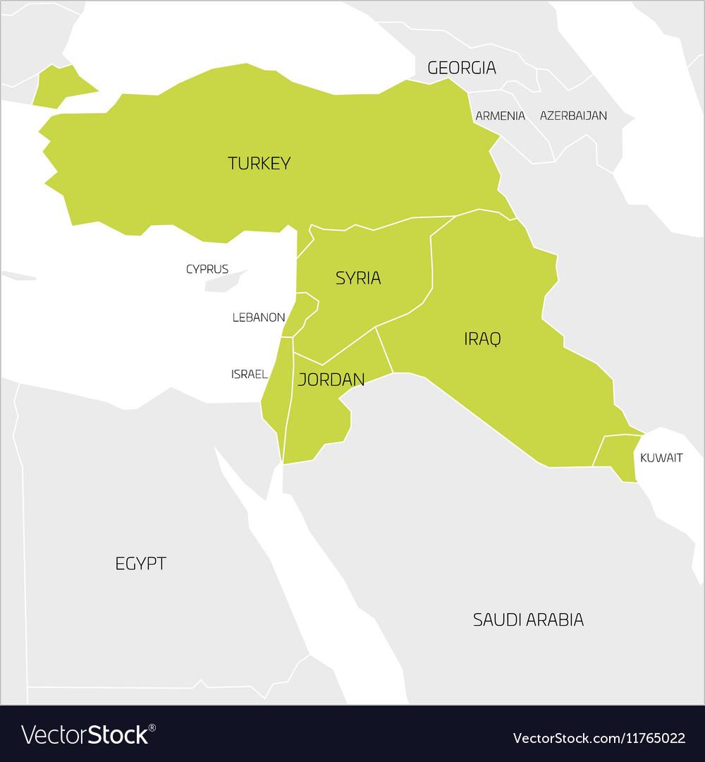 Mideast Map Mideast Region Map Mideast Region