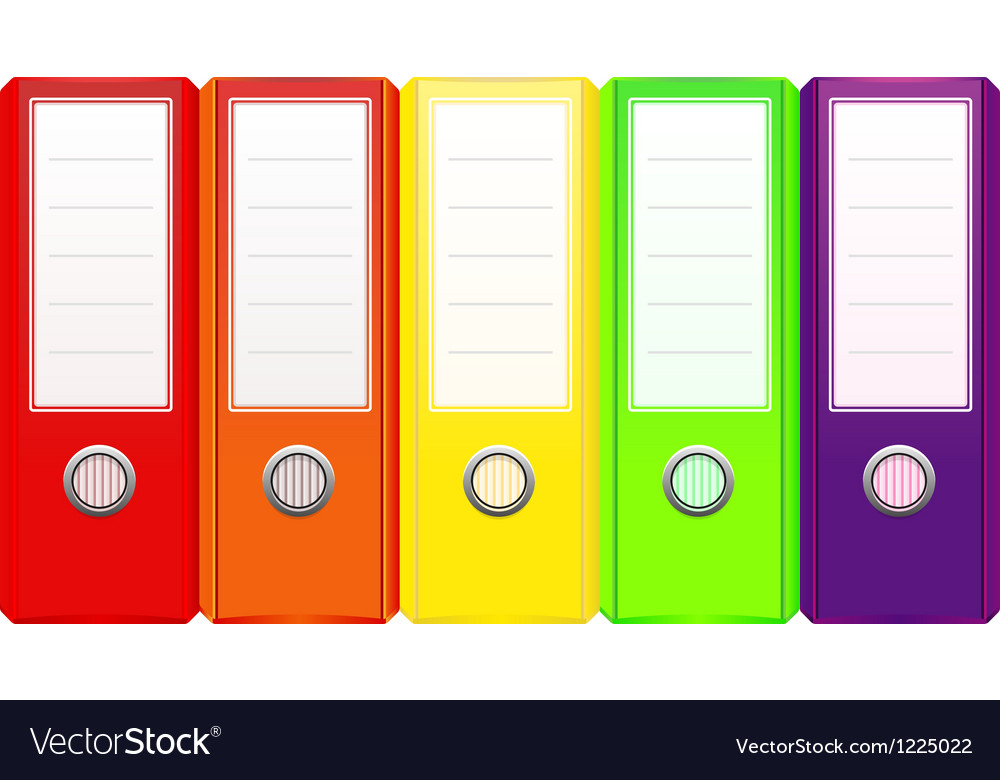 Set of binders vector image