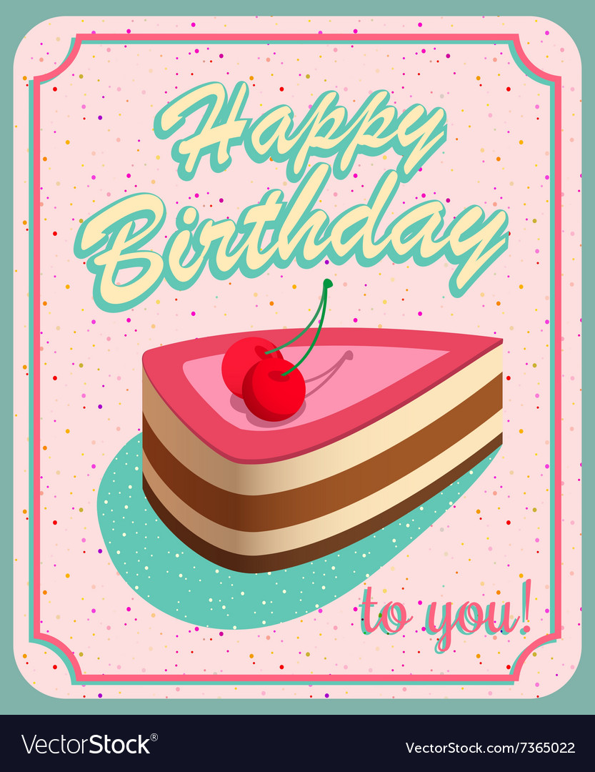 Vintage Birthday Card Grunge effects can be vector image