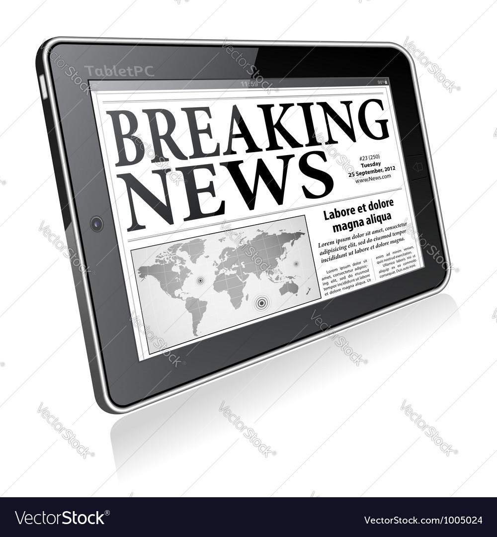 Concept - Digital Breaking News vector image