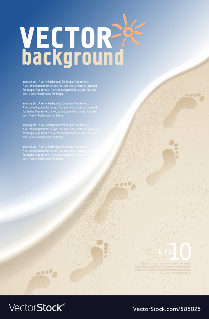 Background with sea and sand vector image
