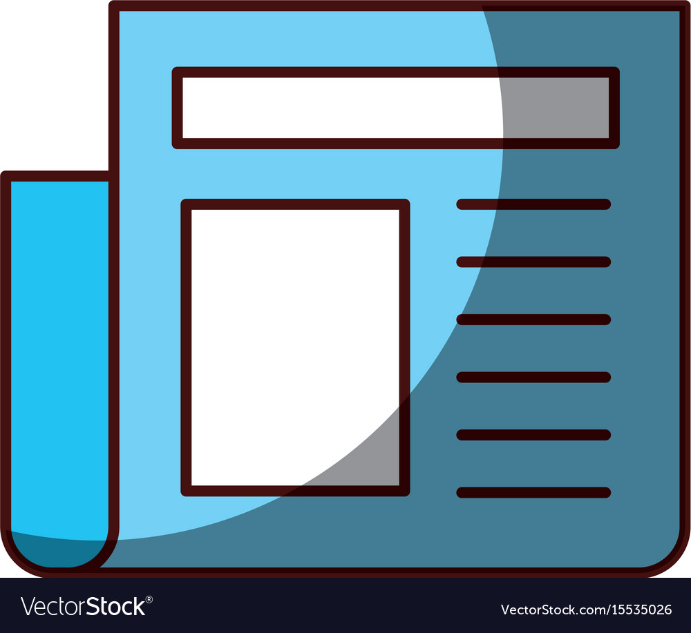 News paper news vector image