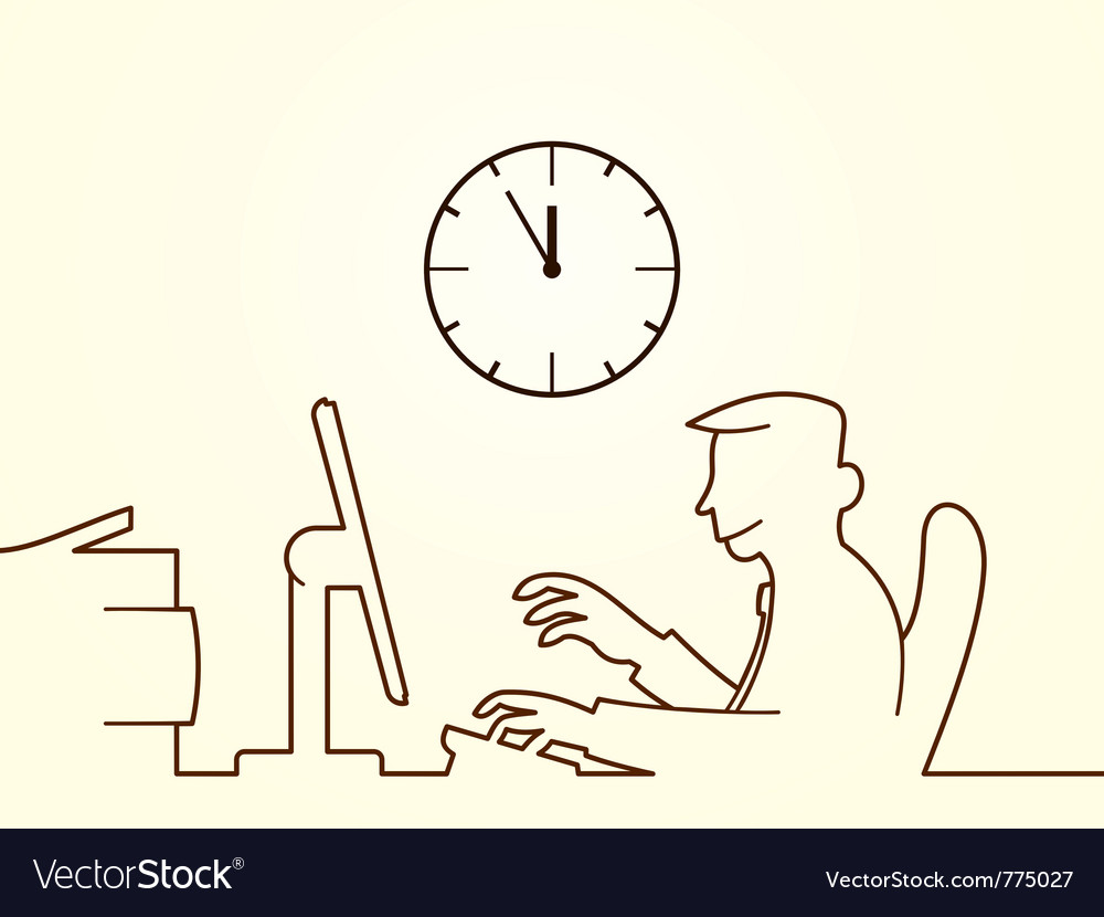 Office hours vector image