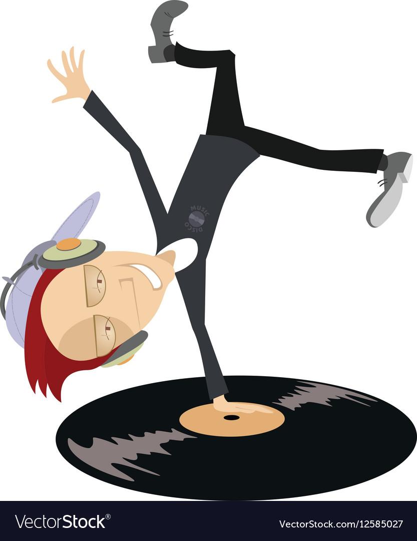Cartoon funny DJ Royalty Free Vector Image - VectorStock