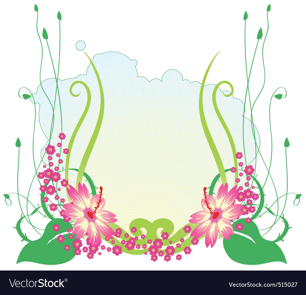 Funky flowers vector image