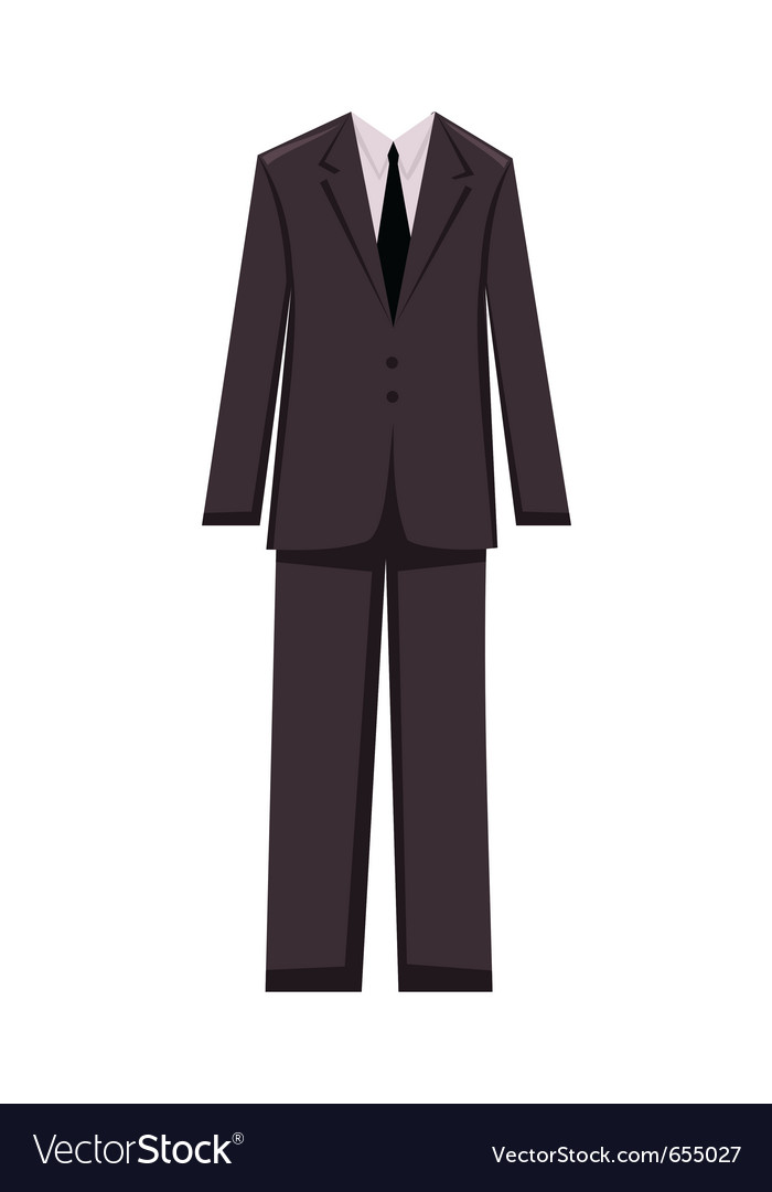 Male business suit design elements - vector image