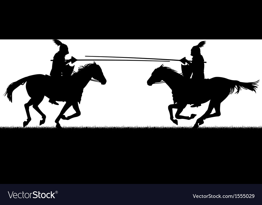 Jousting vector image