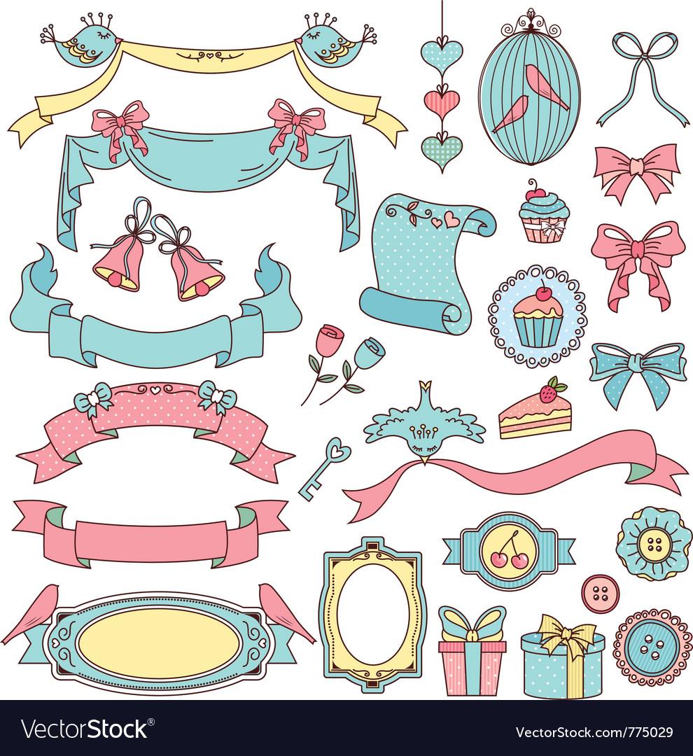 Vintage ornaments vector image