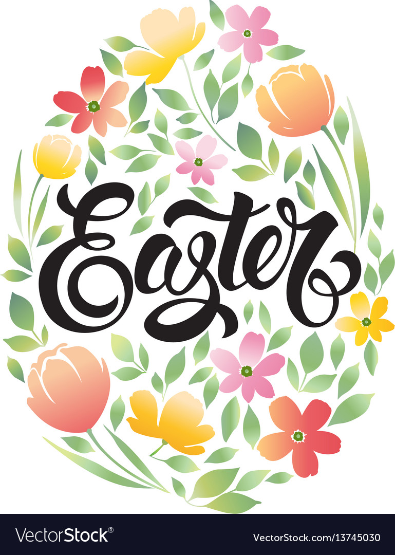 Happy easter 3 vector image