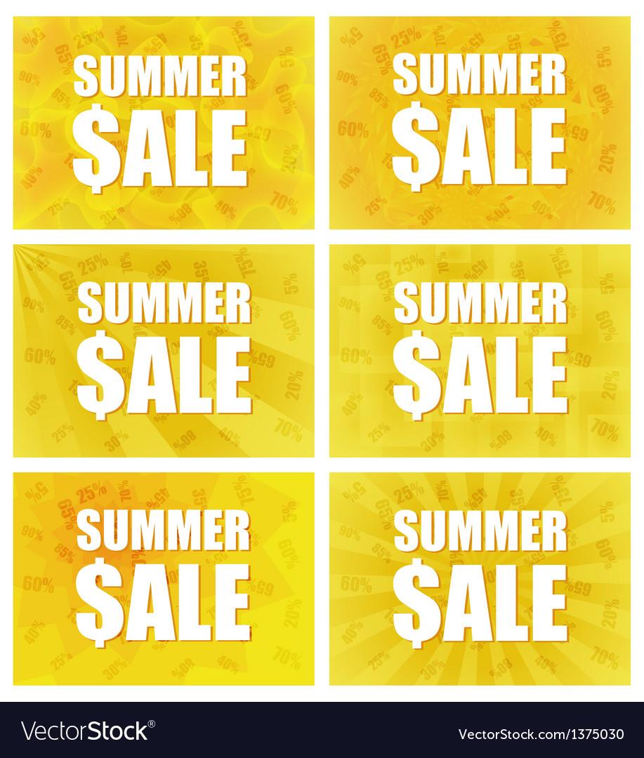 Summer Sale - Set Of Six Variants vector image