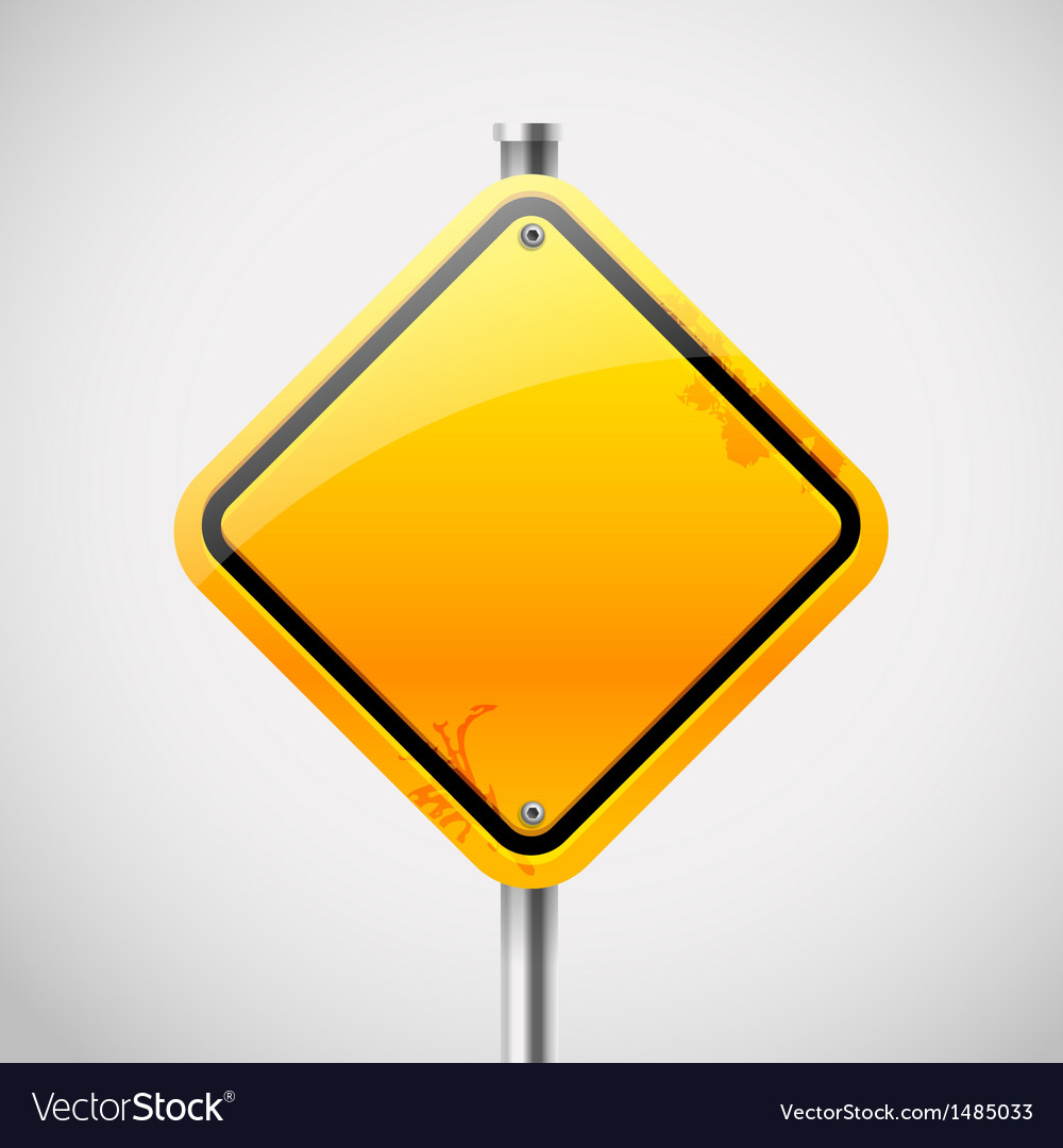 Empty road sign vector image