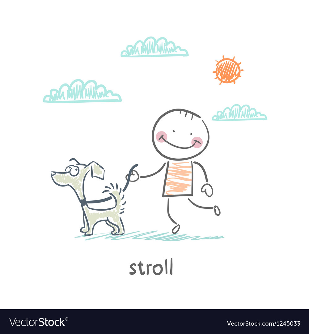 Stroll vector image