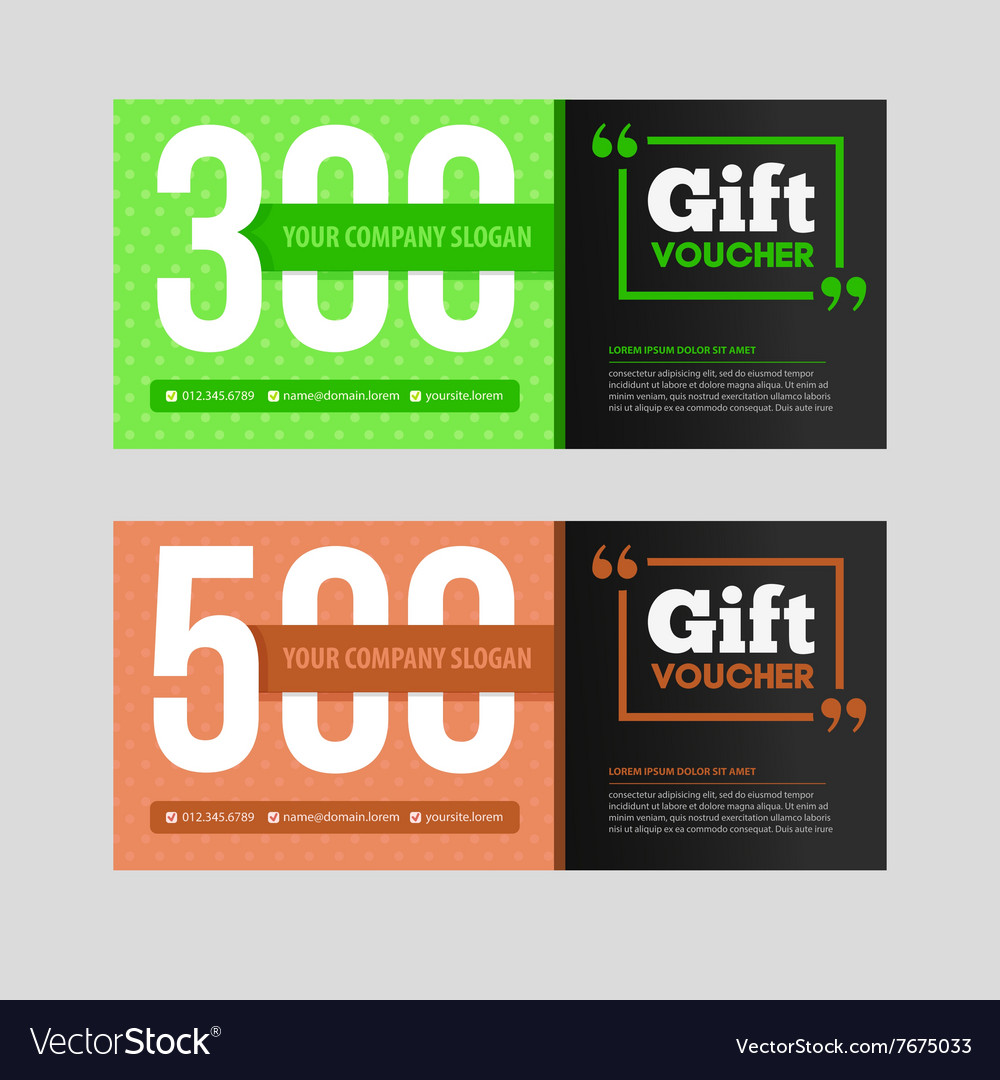 Two coupon voucher design gift voucher template vector image two coupon voucher design gift voucher template vector image alramifo Choice Image