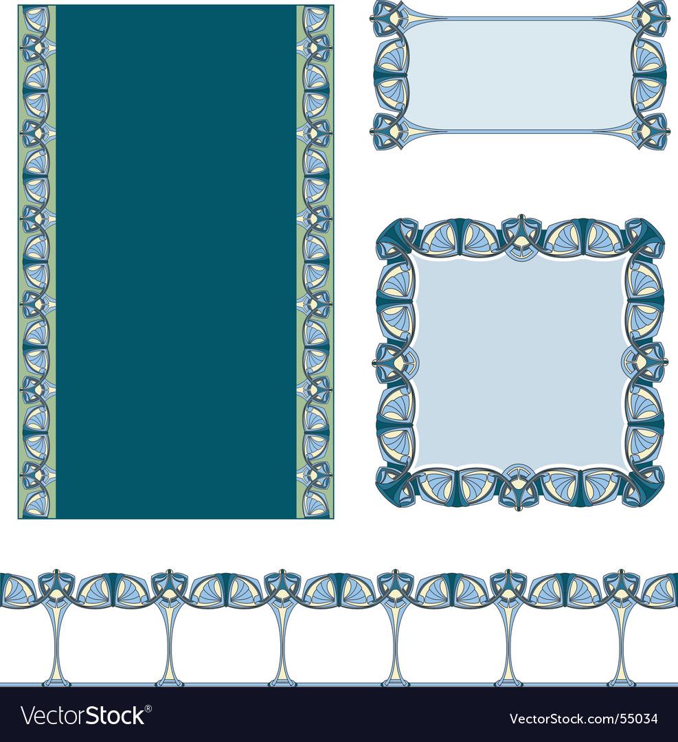 Art Nouveau border Vector Image