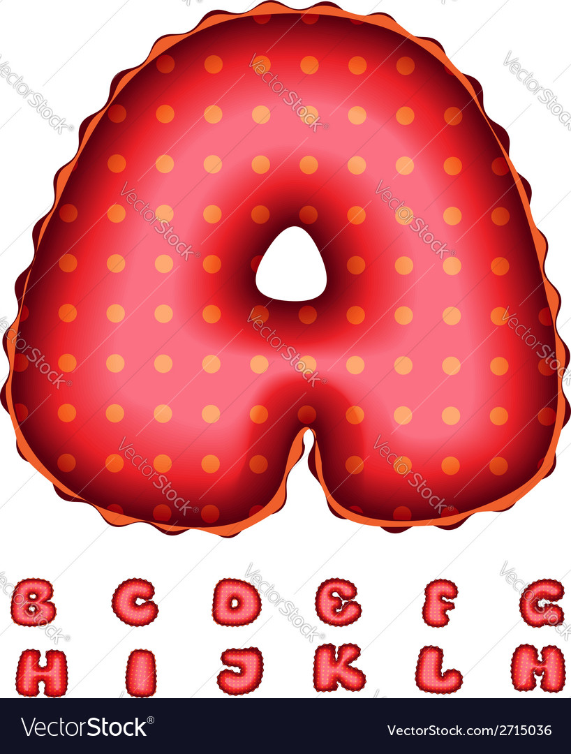 Balloon Letters vector image