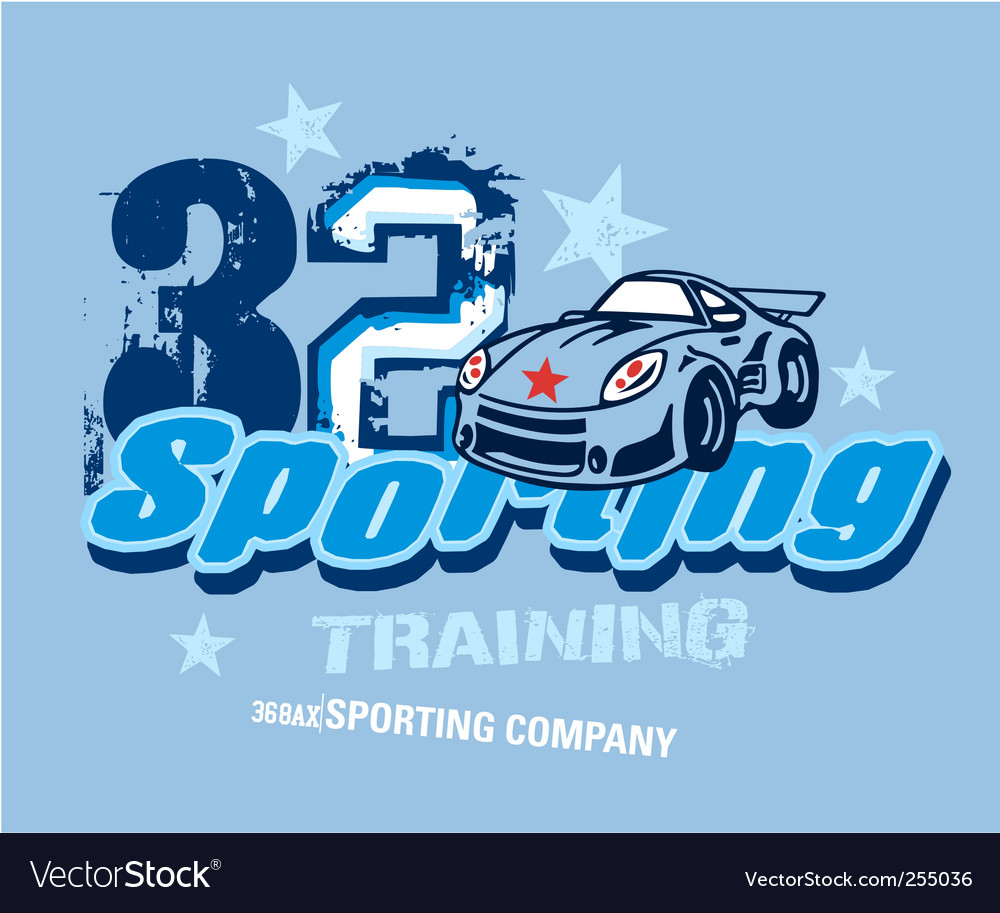 Sporting vector image