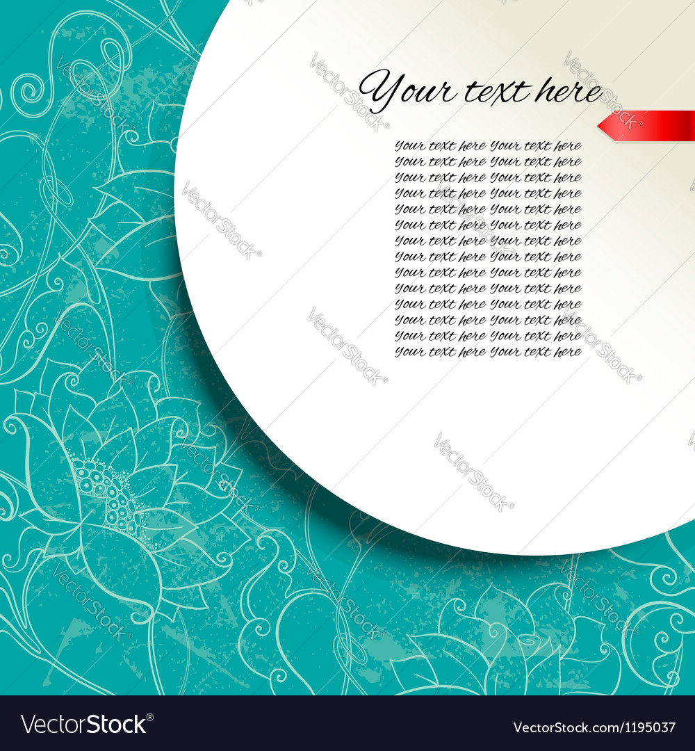 Template frame with place for your text and Floral vector image