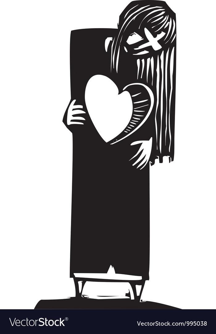 Lost Heart Vector Image