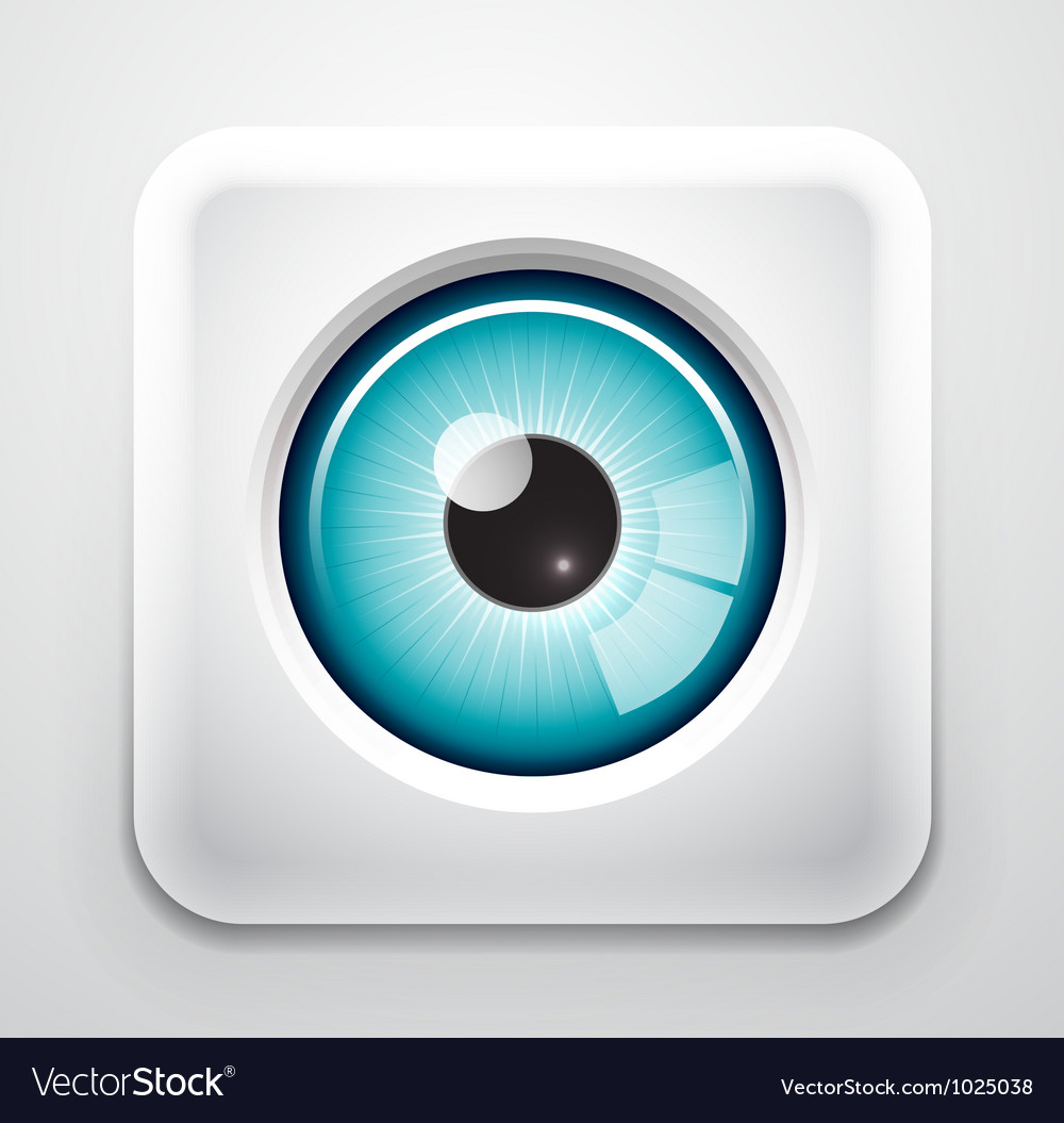 Eye button vector image