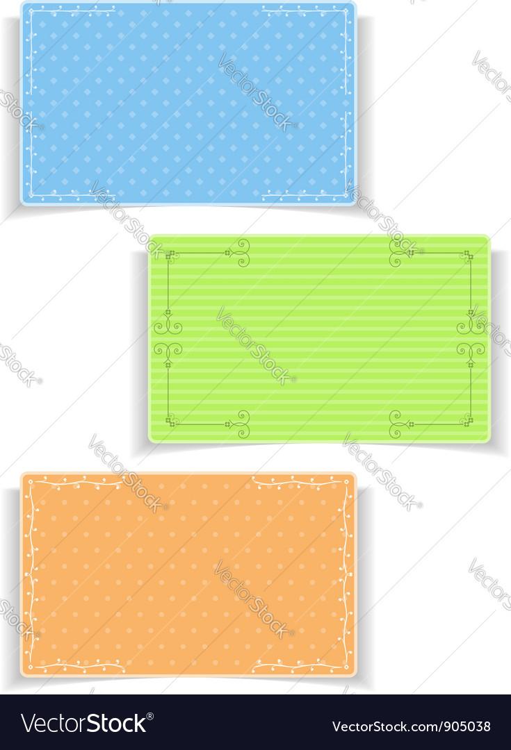 Vintage Cards vector image