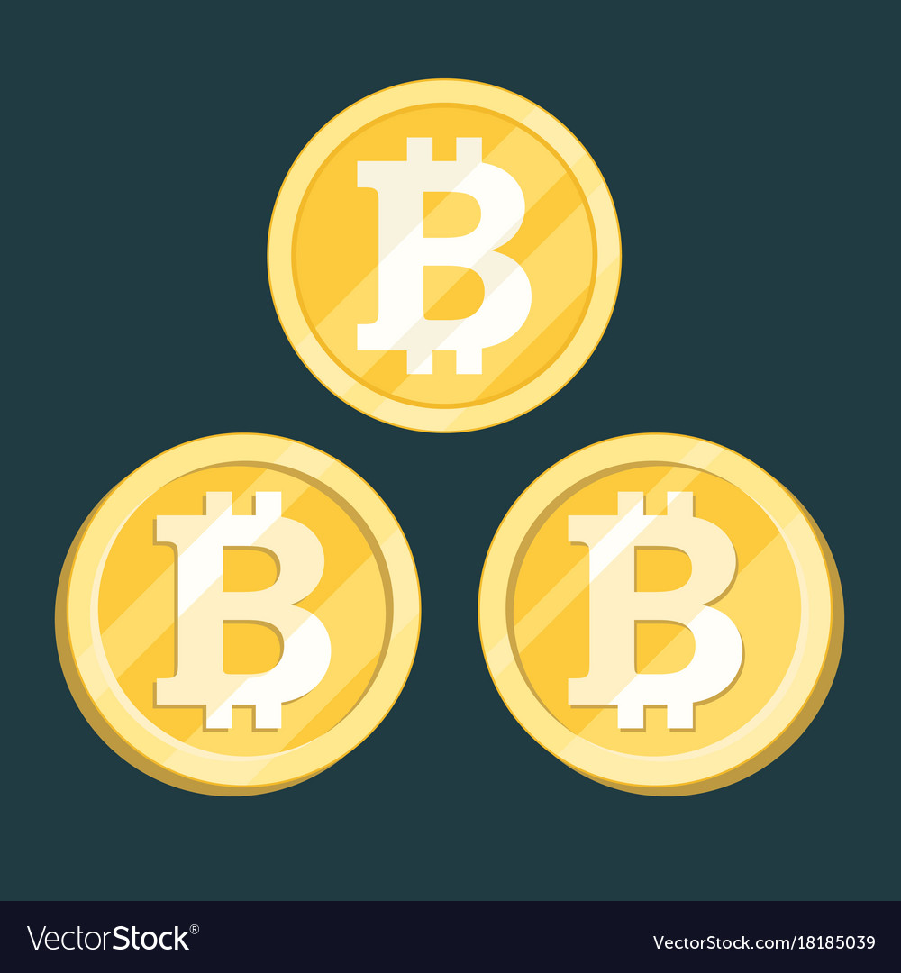 Bitcoin digital crypto currency sign vector image
