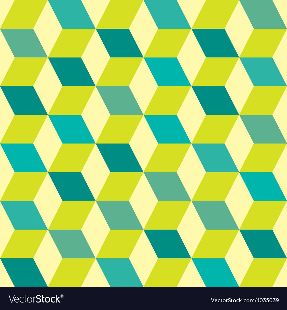 Seventies green seamless vector image