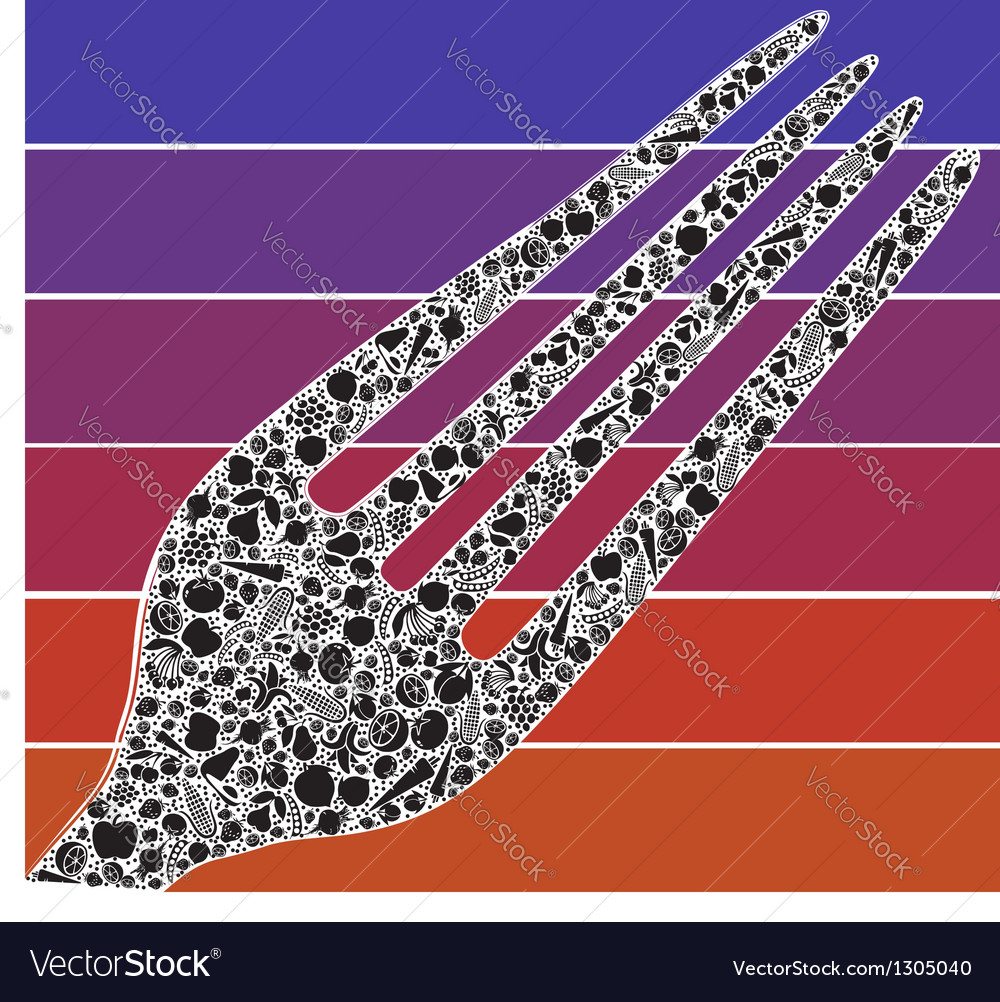 Fork design vector image