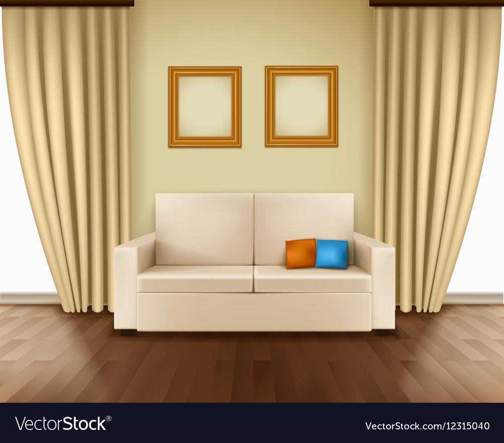 Realistic Room Interior vector image