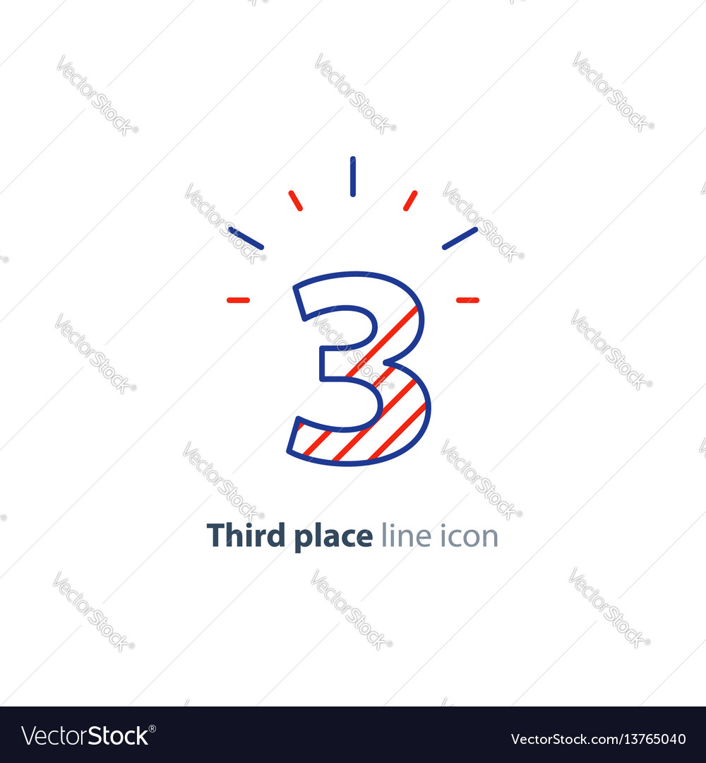 Third step concept achievement level linear icon vector image