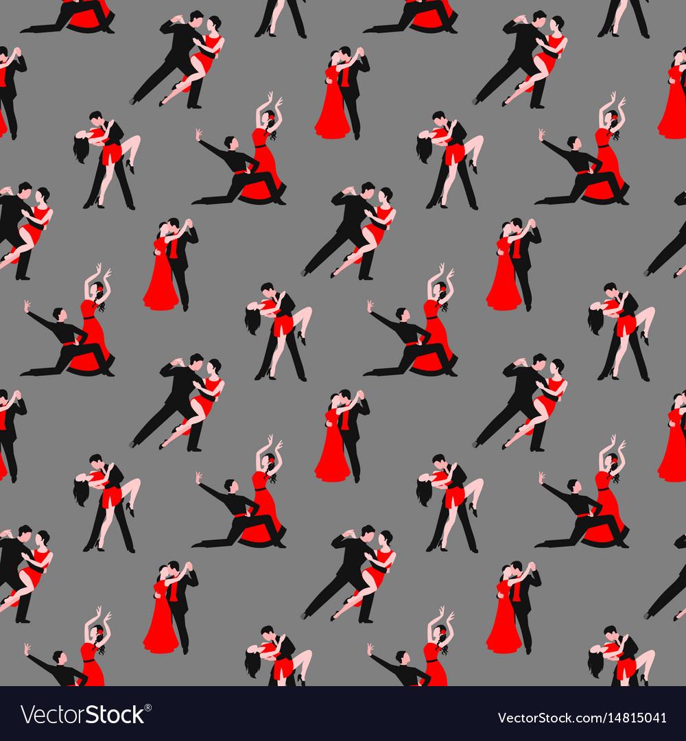 Couples dancing tango latin american romantic boy vector image