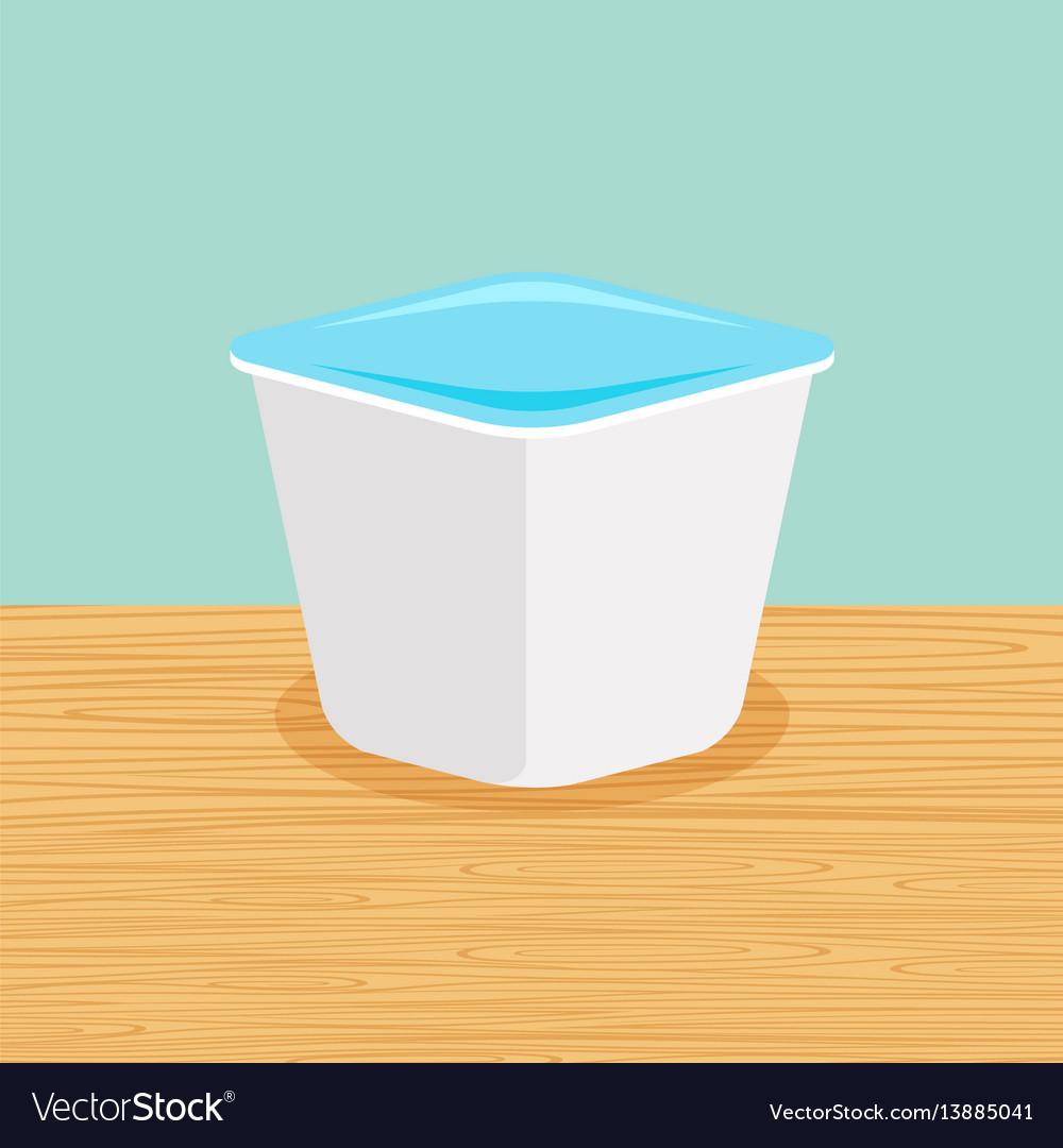 Farm yoghurt on the table vector image
