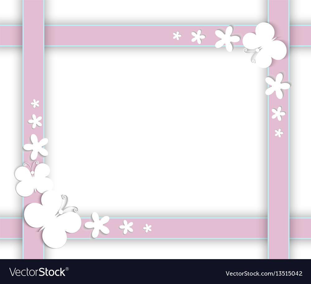 Butterflies on the frame vector image