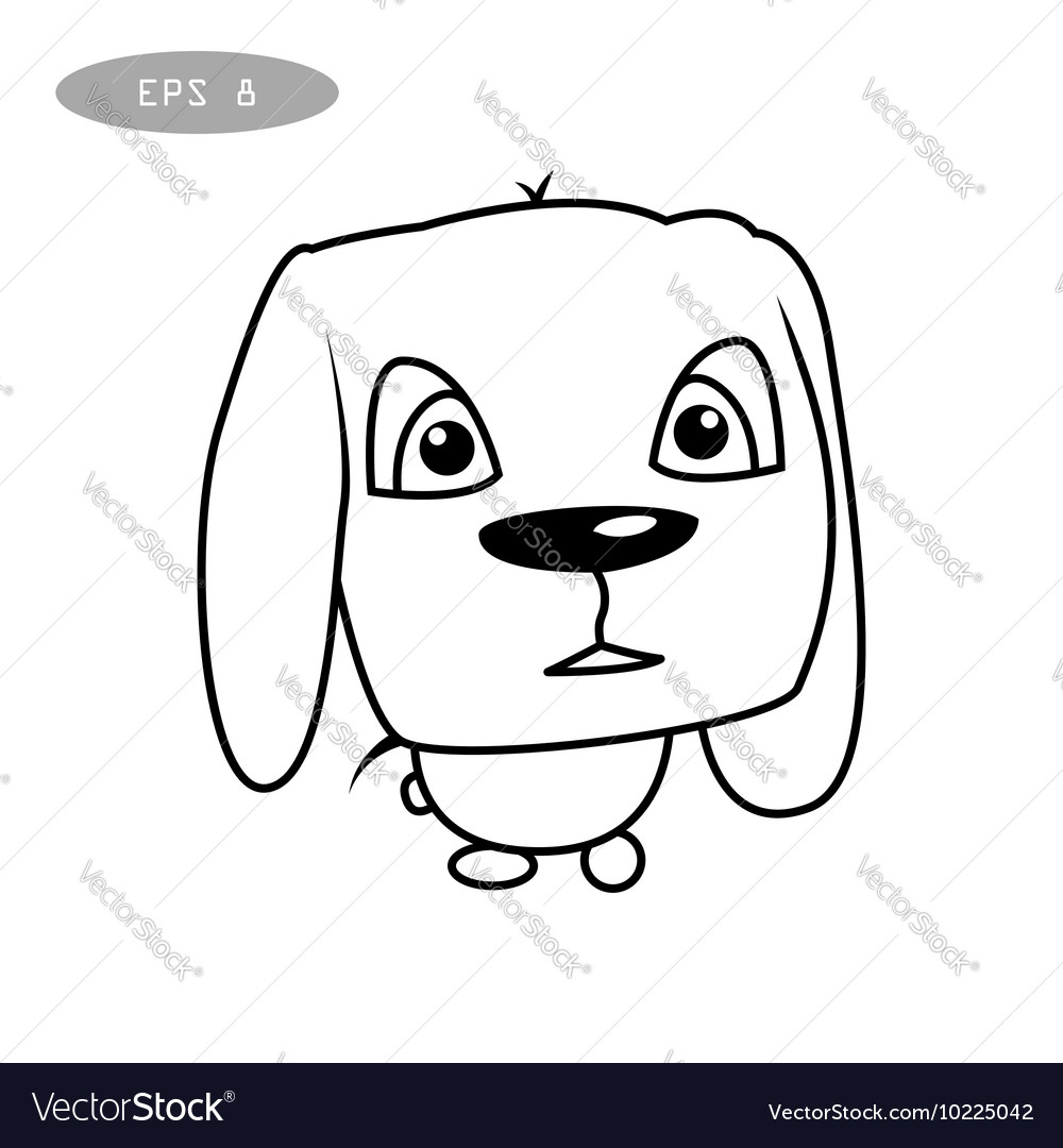 Cute dog character vector image