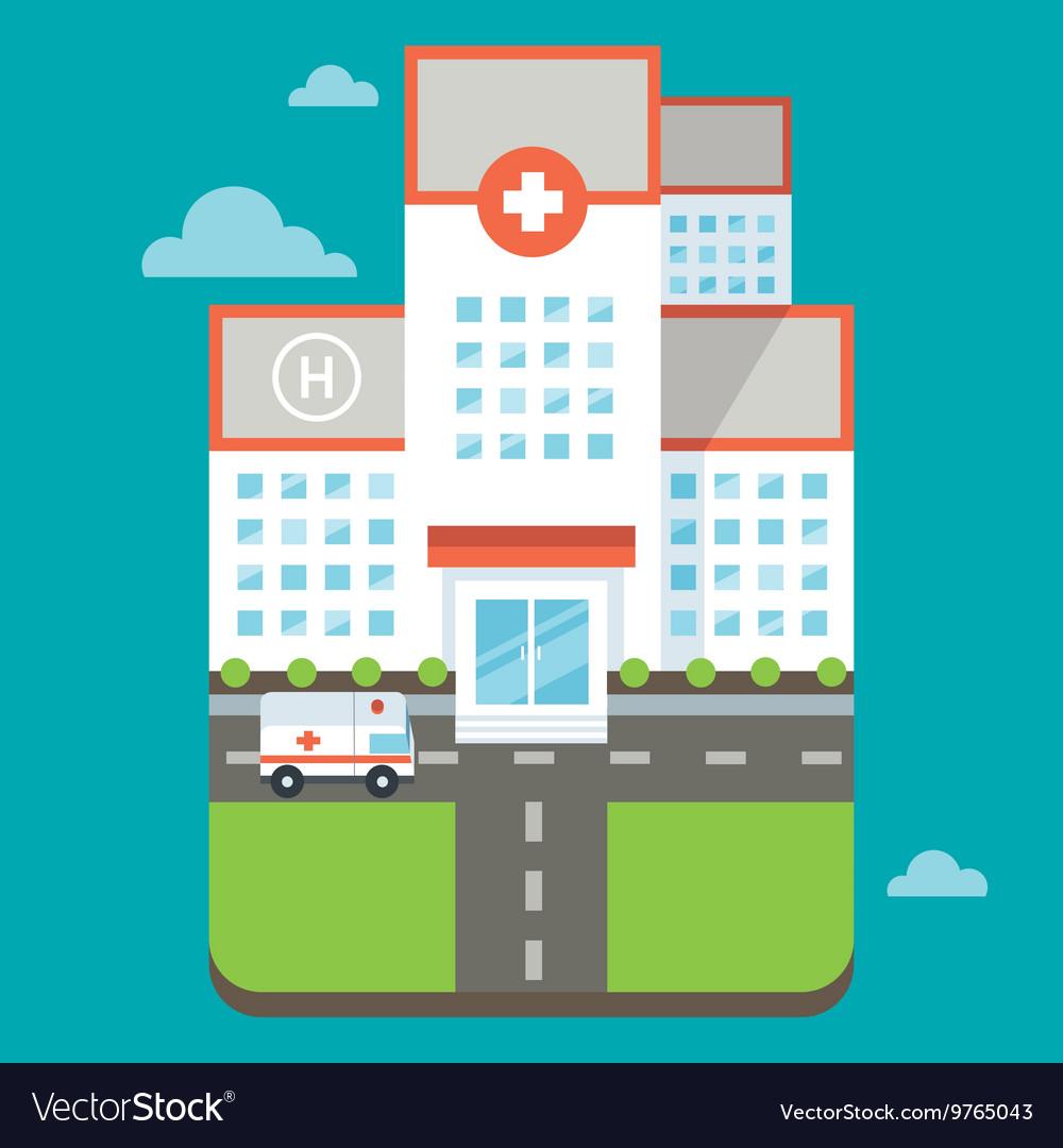 Hospital vector image