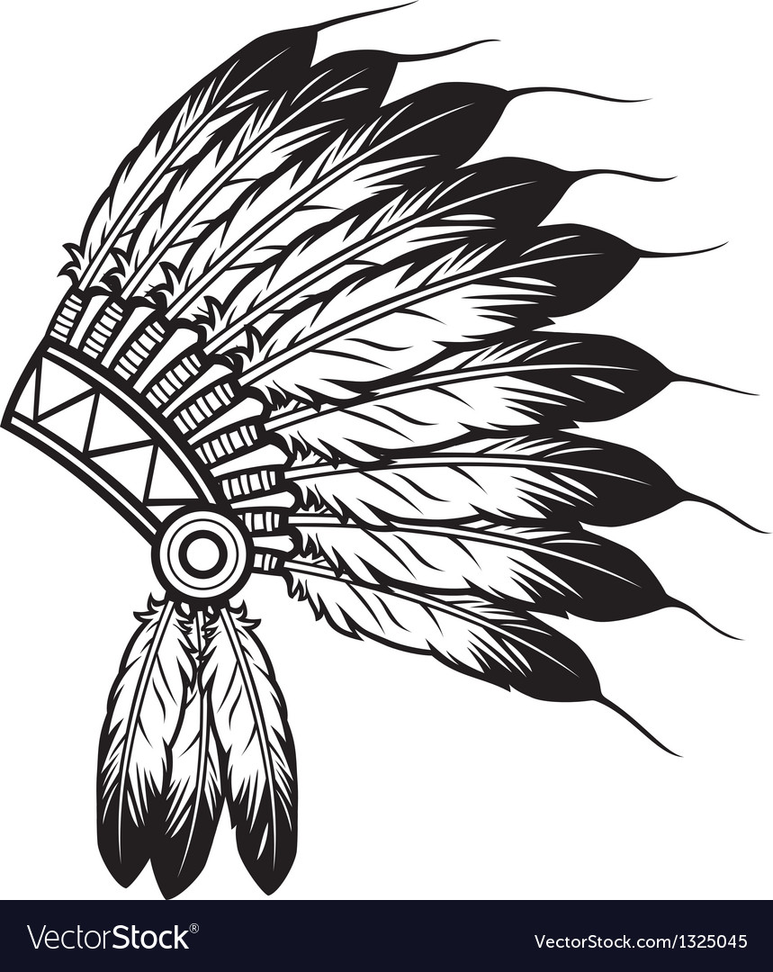 Native American Indian chief headdress vector image