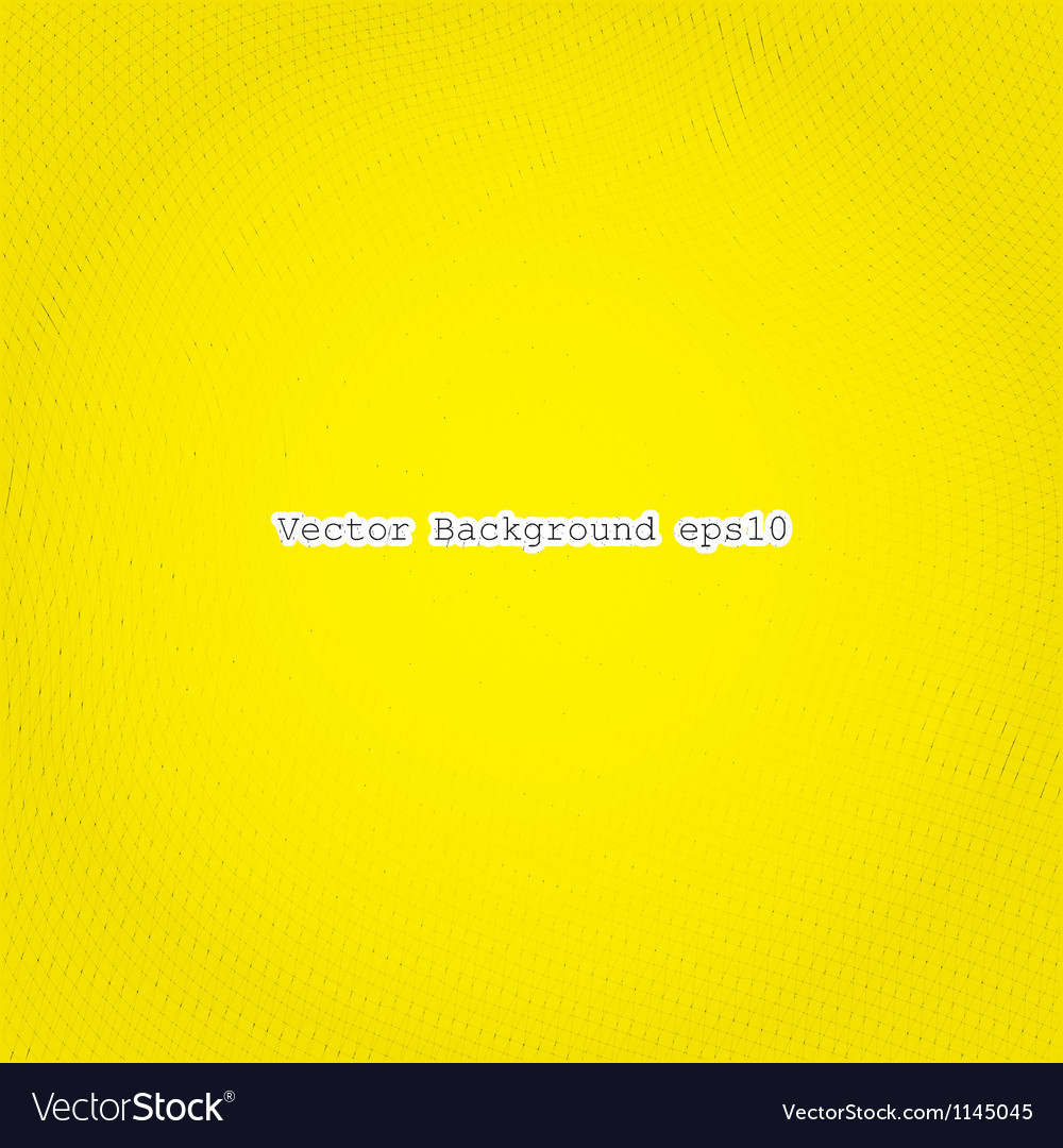 Hatching on a yellow vector image