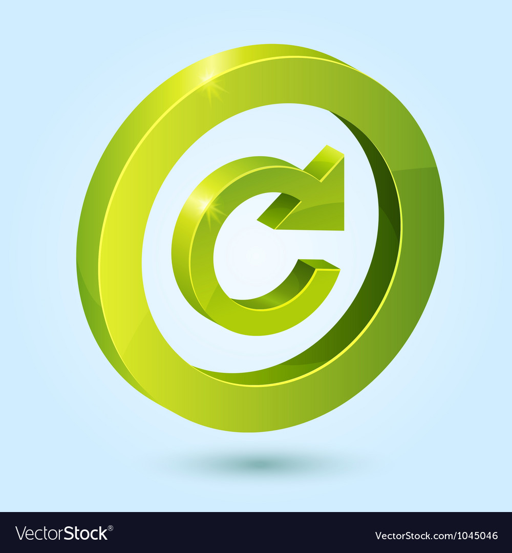 Green replay symbol isolated on blue background vector image