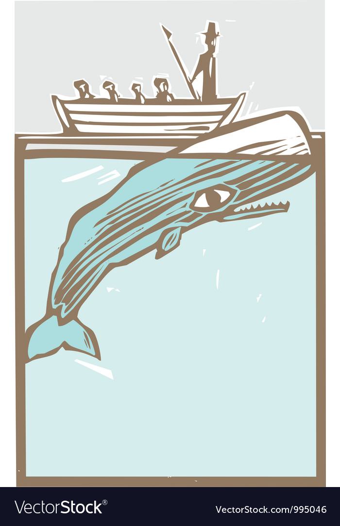 vector Moby dick